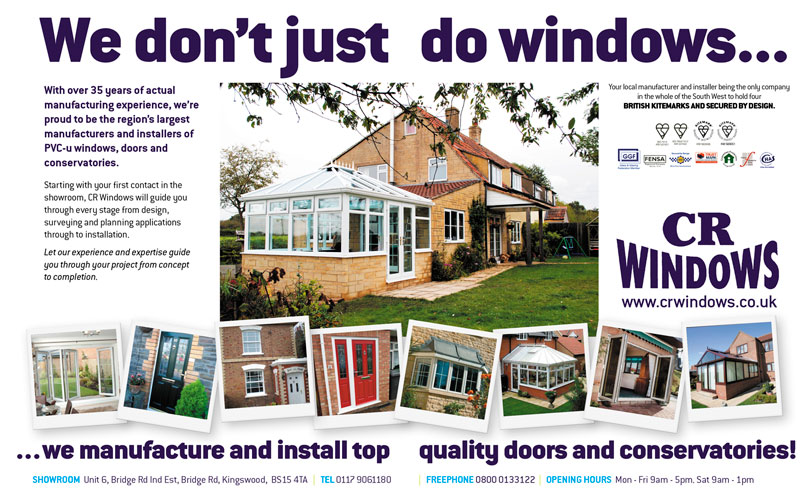 'We don't just do windows...' double page spread ad for CR Windows