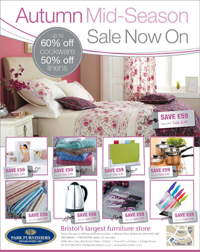 Park Furnishers mid-season sale ad