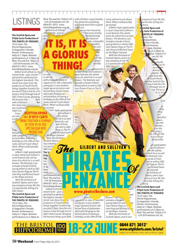 'Breakout' style ad in the Bristol Post for the Pirates of Penzance